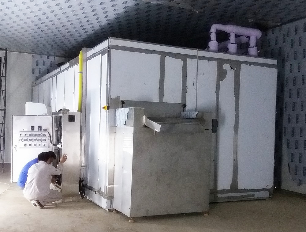 China Fluidized IQF Freezer 300-3000kg/h for Freeze Vegetable And Fruit
